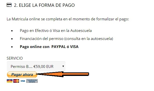 PAGAR AHORA. Como pagar en paypal sin cuenta, solo con tarjeta de crédito. Autoescuela Clase, tu autoescuela en Valencia, la mejor opción para sacarte el carnet y conducir en Valencia.
